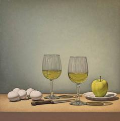 White Wine, Eggs, and Apple