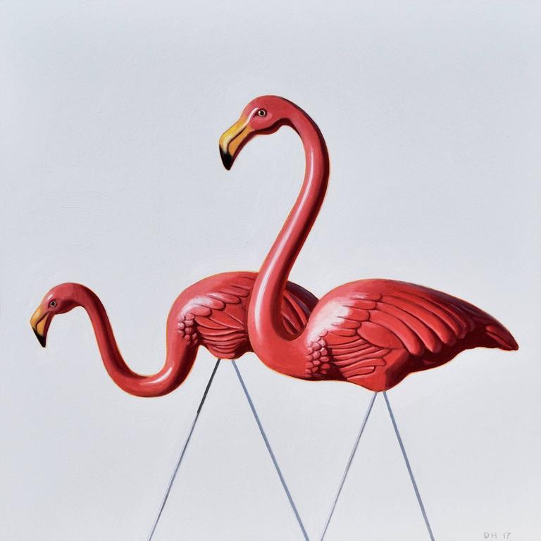 Danny Heller Animal Painting - Flamingo Study #4