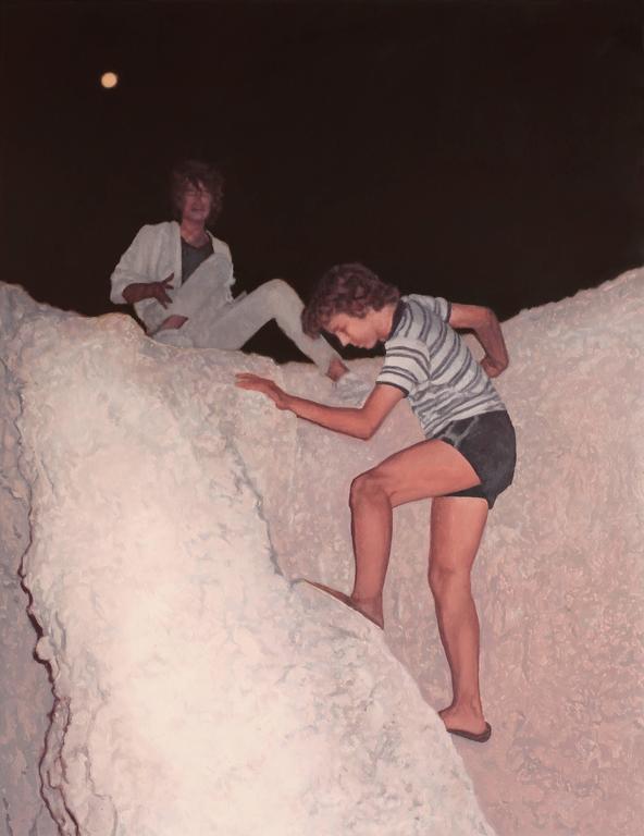 Alex Roulette Landscape Painting - Night Climb