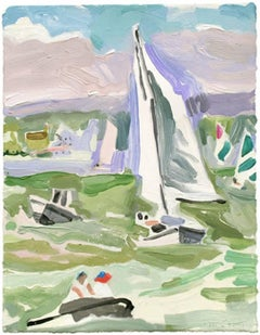 Sailing Lesson, Windy, Framed