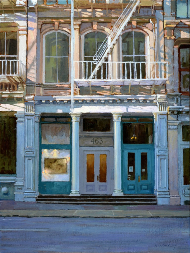 Paul schulenberg along broome street framed painting for Mural on broome street