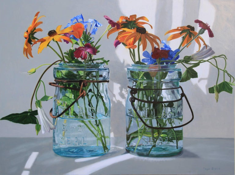 Two Jars with Black Eyed Susans