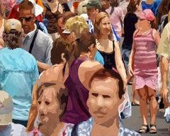 Crowd (Composition #10), Framed