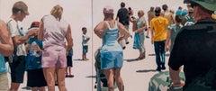 Crowd (Composition #16), Framed
