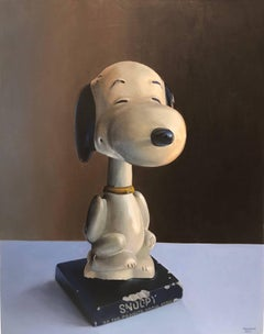 Snoopy Bobblehead, Framed