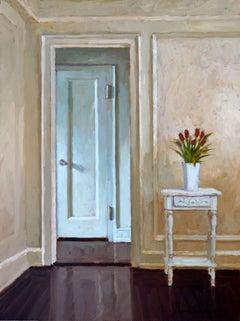 Tulips by the Door, Framed