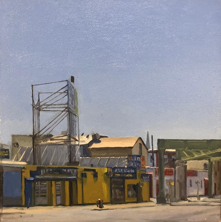 Nicholas Evans-Cato Landscape Painting - Mustard