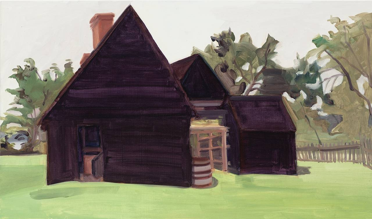 Elizabeth O'Reilly Landscape Painting - Black House in Shadow
