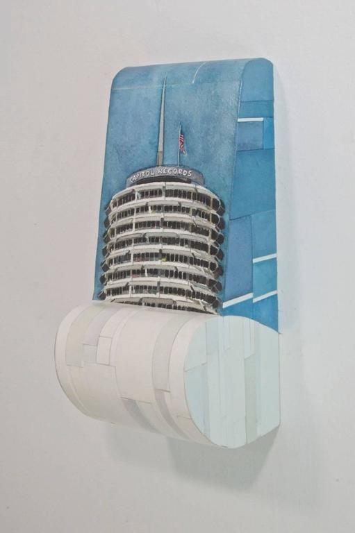 Capitol Records - American Realist Painting by Russ Havard