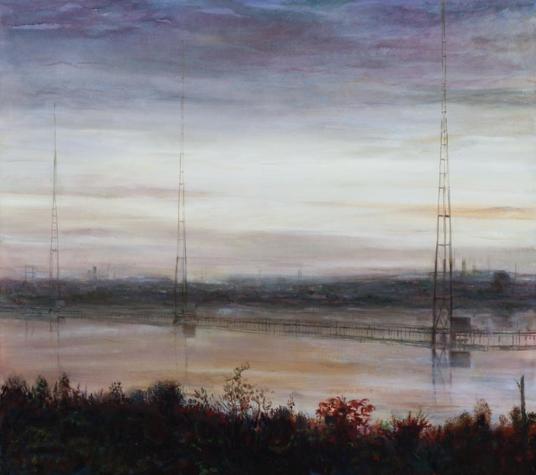 Trevor Young Landscape Painting - Meadowland Erections