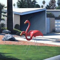 Morning Lawn Flamingo