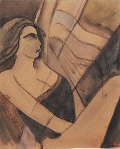 "Hugó Scheiber Pastel ""Sailing"", about 1930"