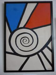 """Spirale No 4 Rouge et Bleu"""