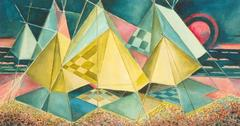 """""""Zelte am Meer"""" ( Tent Camp by the Sea ) 1967 by Heinz Borchers"""