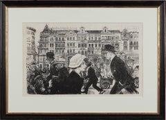 "Lithograph by Karl Holtz, 1921 ""Strassenszene"" ( ""Street Scene"" )"
