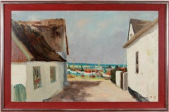 "Clemens Neuhaus ""Weg zum Strand"" Oil Paint on Canvas 1977"