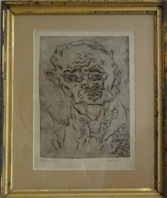 "Otto Pankok Etching "" Taubstummer IV "", 1921"