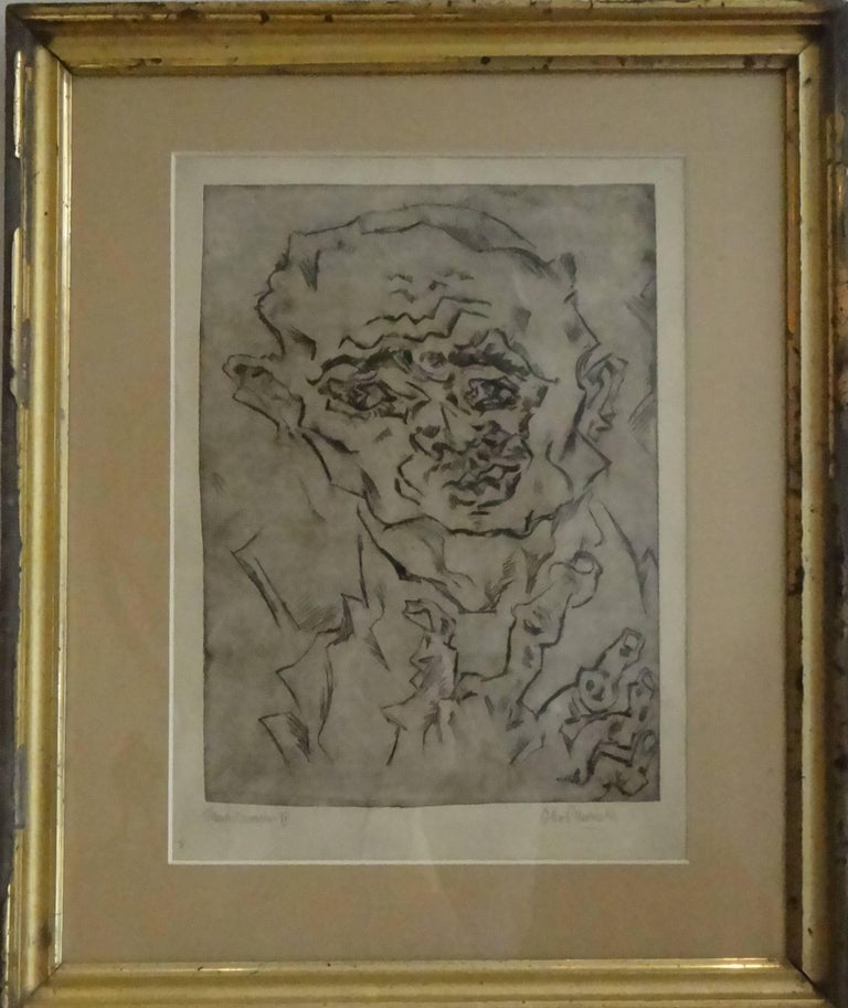 "Otto Pankok Etching "" Taubstummer IV "", 1921 - Print by Otto Pankok"