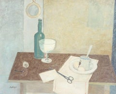 "Rudolf Ausleger ""Still-life"" Oil Paint on Board 1935"