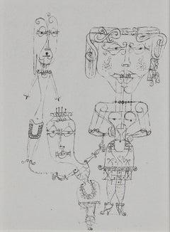 """Paul Klee Etching """"Kostümierte Puppen"""""""