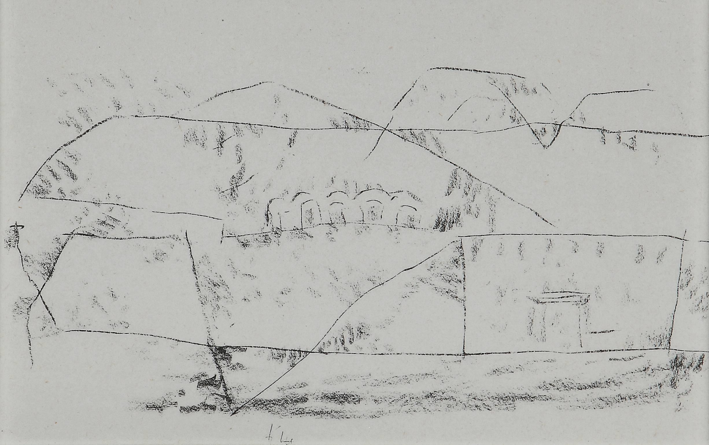 """Paul Klee Etching """"Felsgräber"""""""