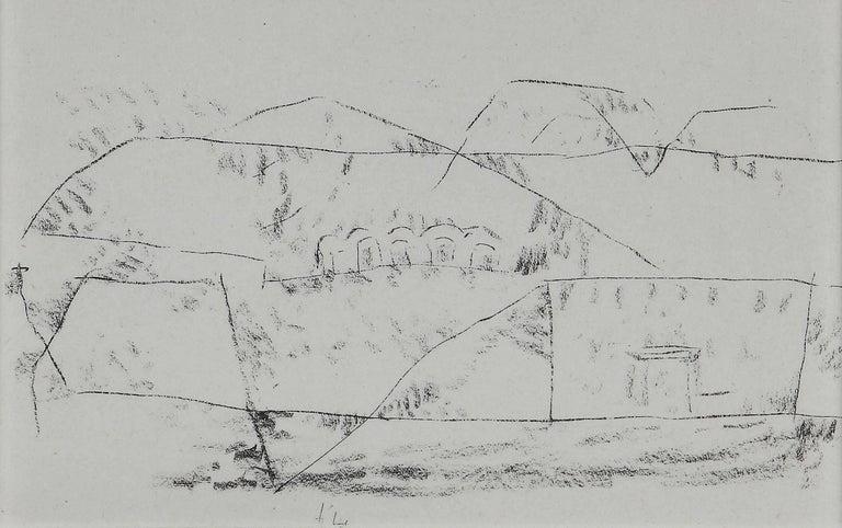 "(after) Paul Klee Landscape Print - Paul Klee Etching ""Felsgräber"""