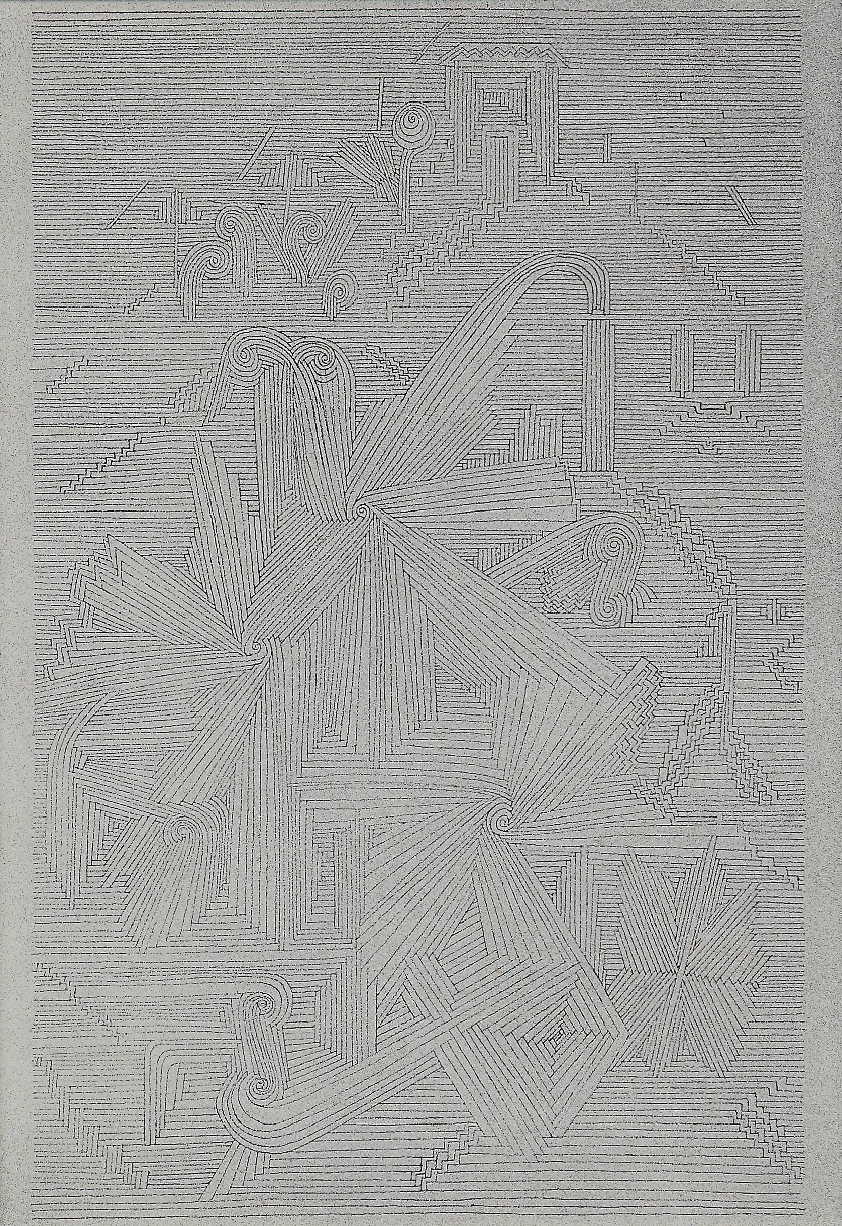 """Paul Klee Etching """"Botanischer Garten. Abteilung der Strahlenblattpflanzen"""""""