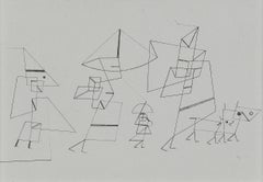 """Paul Klee Etching """"Familienspaziergang ( Tempo II )"""""""