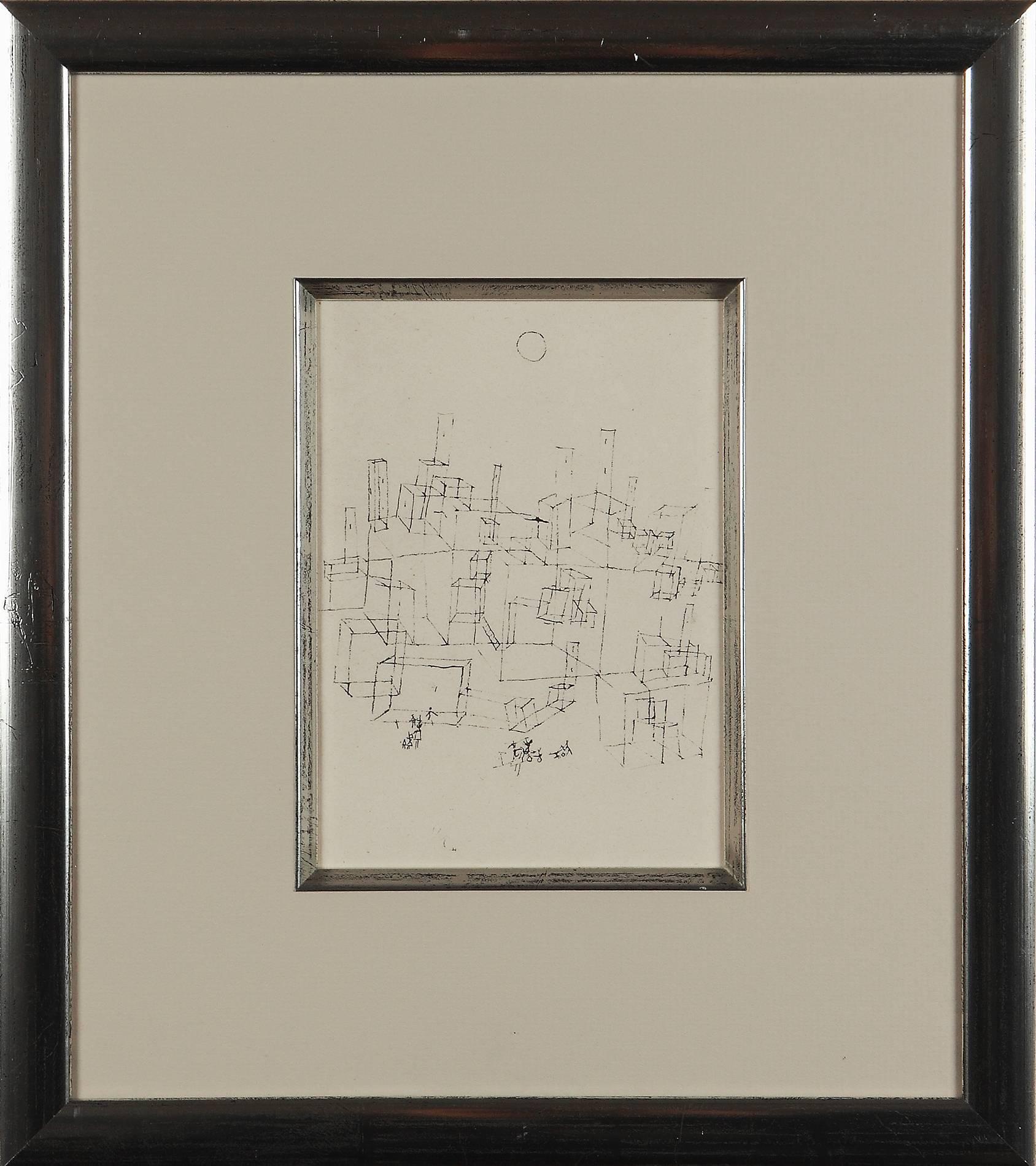 """Paul Klee Etching """"Stadt mit Wachttürmen"""""""
