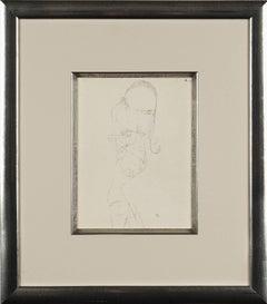 """Paul Klee Etching """"Nackte Frau"""""""