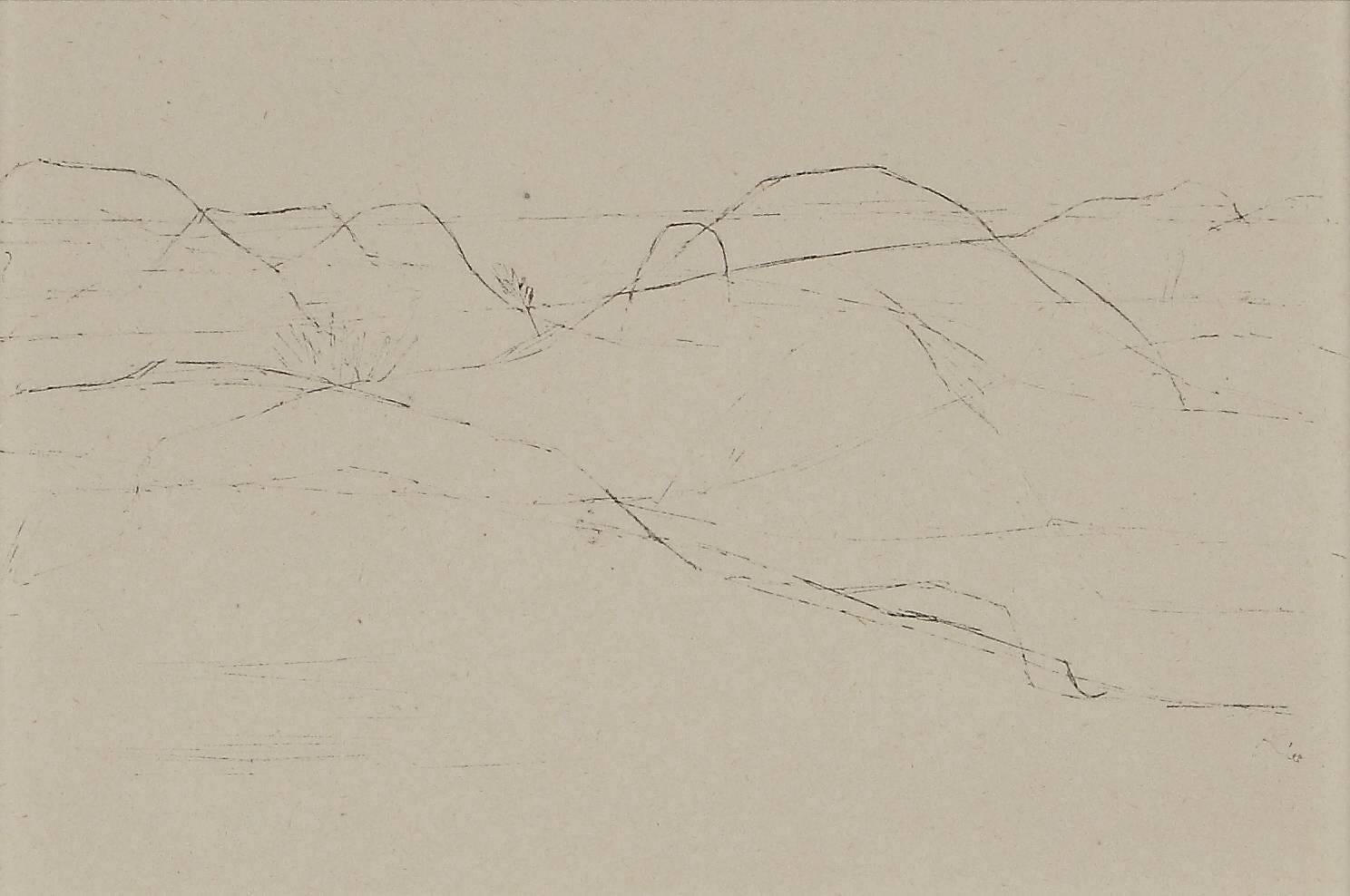 """Paul Klee Etching """"Hügelland von Porquerolles"""""""