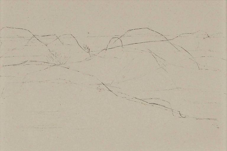 "(after) Paul Klee Landscape Print - Paul Klee Etching ""Hügelland von Porquerolles"""