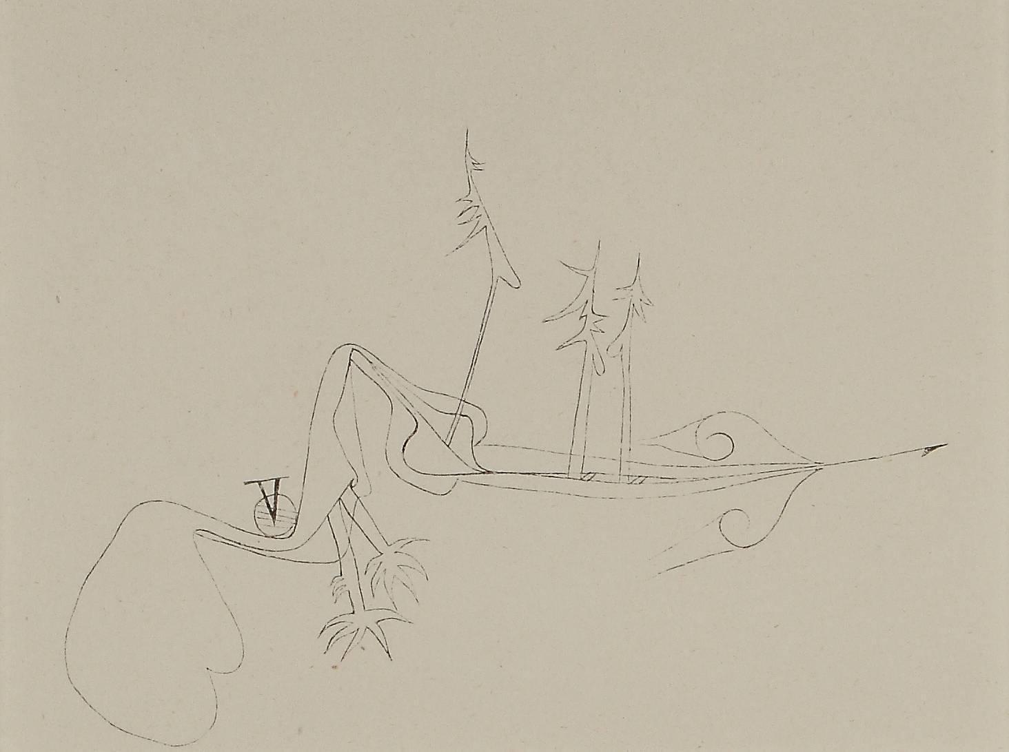 """Paul Klee Etching """"Verhexte Landschaft"""""""