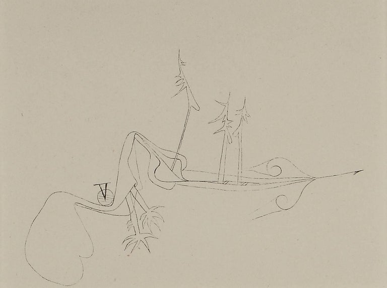 "(after) Paul Klee Landscape Print - Paul Klee Etching ""Verhexte Landschaft"""