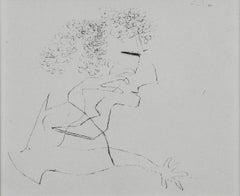 """Paul Klee Etching """"Divergenz Kopf-Hände"""""""