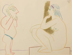 "Pablo Picasso Color Lithograph ""Painter and Model"", 1954"