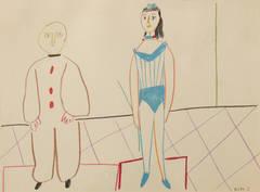"Pablo Picasso Color Lithograph ""Cirque"", 1954"