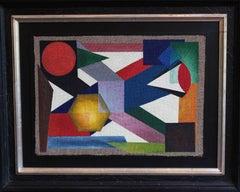 """Udo Haderlein """"Abstraktion aus der Blume des Lebens"""" Acrylic Paint on Jute"""