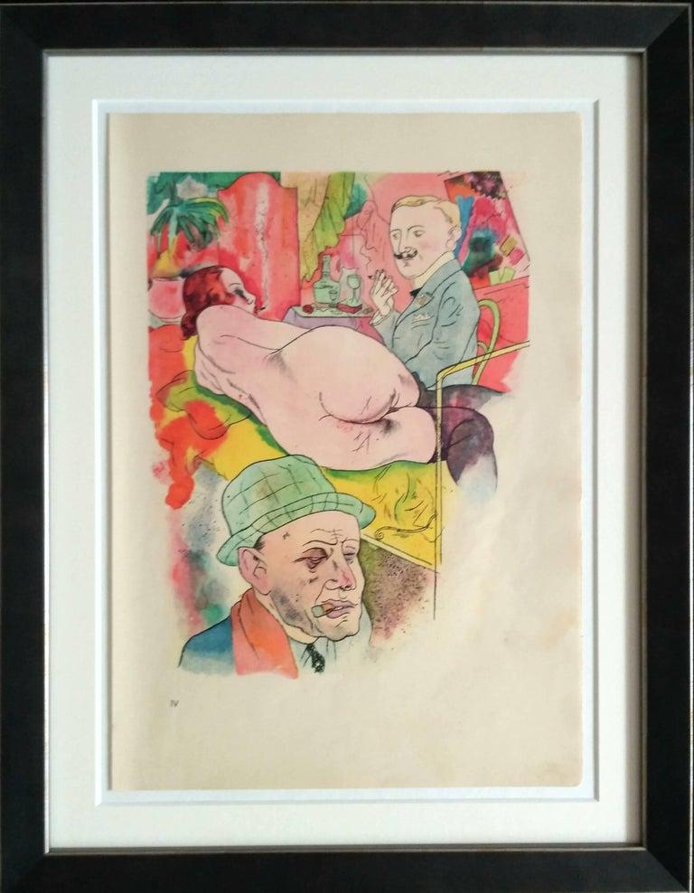 "George Grosz ""Ecce Homo"" Lithograph, 1921 - Print by George Grosz"