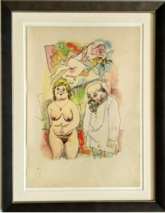 "George Grosz ""Pappi und Mammi"" ( Daddy and Mommy ) Lithograph, 1922"
