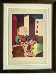 """Der Mensch ist gut"" ( People are basically good ) Lithograph by George Grosz"