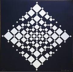 """Serigraph """"Cubecracks"""" by Hans-Dieter Schrader"""