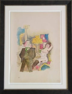 "George Grosz Lithograph ""Kraft und Anmut"" ( Strength and Grace ), 1922"