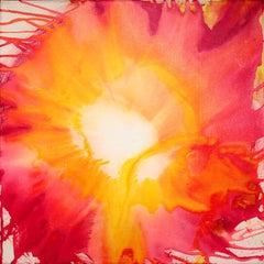 "Udo Haderlein Acrylic Ink on Canvas ""Untitled"""
