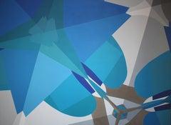 "Claudia Fauth ""Matrix in Creation No 24"" Acrylic Paint on Canvas, 2018"