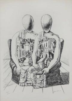 """Giorgio De Chirico Lithograph """"Gli Archeologico"""", 1970"""