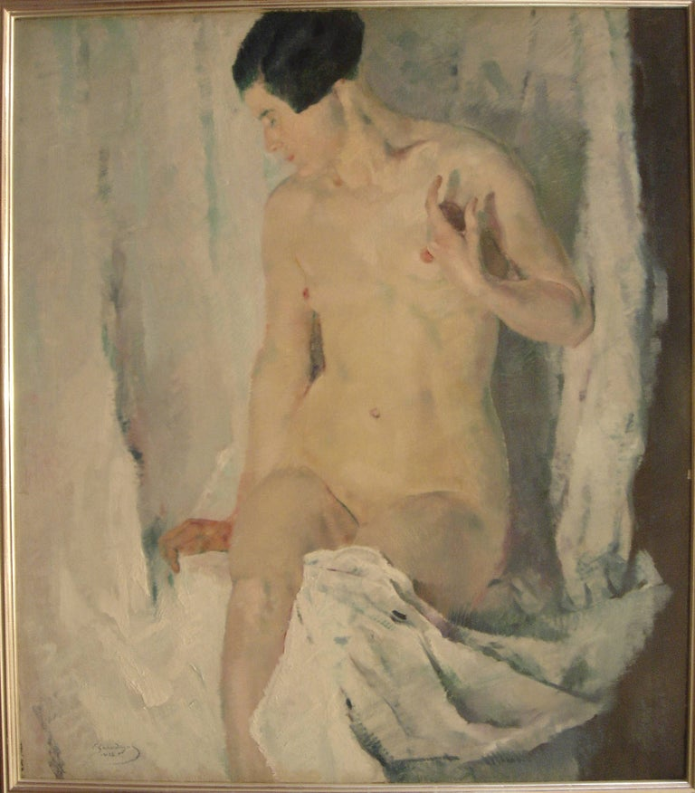"Constantin Gerhardinger Oil Paint ""Female Nude"", 1925 - Painting by Constantin Gerhardinger"