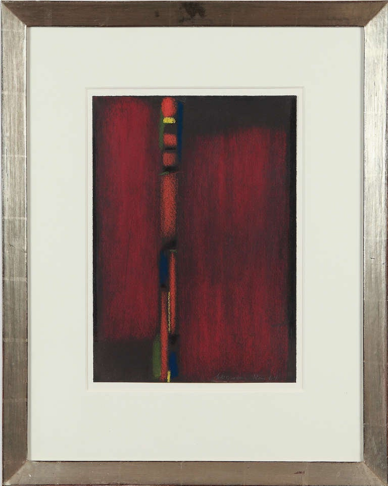 Max Ackermann Pastel Untitled, 1964 - Painting by Max Ackermann