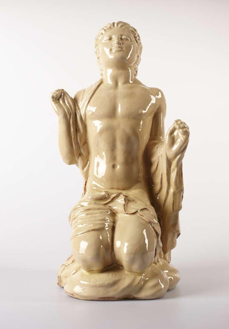"Bernhard Hoetger Ceramic ""Glaube"" ( Faith ), 1912"