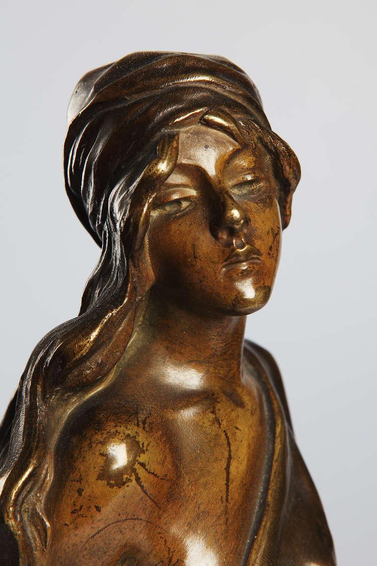 Emmanuel Villanis Art Nouveau Bronze Sculpture